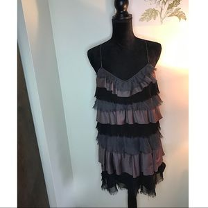 Free People Size 10 Racerback Tiered Rag Dress